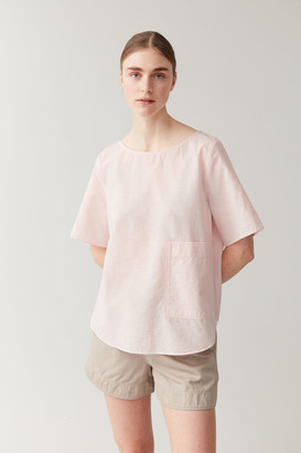 Cos A-Line Cotton-Linen T-Shirt