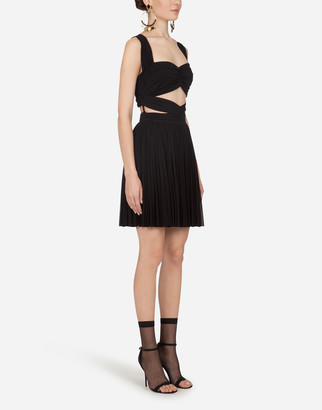 Dolce & Gabbana Short Dress In Jersey Viscose