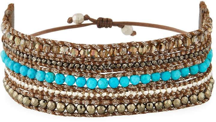 Chan Luu Beaded Multi-Row Cuff Bracelet