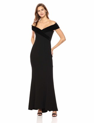 Vince Camuto Women's Crepe Off The Shoulder Gown