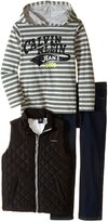 Calvin Klein Little Boys' Puffy Vest with Tee and Pants