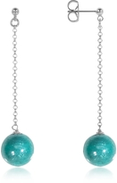 Antica Murrina Veneziana Perleadi Turquoise Murano Glass Bead Earrings