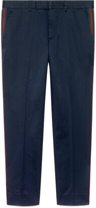 Gucci Cotton '60s trousers with Web