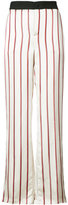 Lanvin wide leg striped trousers - women - Polyester/Viscose/Wool - 36