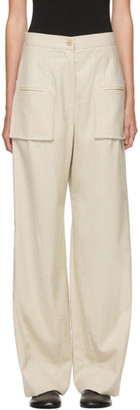 Kim Matin Beige Pocket Trousers