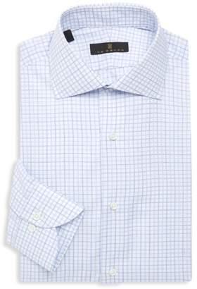 Ike Behar Classic Fit Plaid Dress Shirt