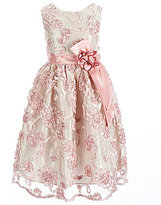 Jayne Copeland Big Girls 7-12 Soutache Sash-Flower Dress