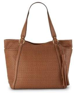 Cole Haan Basket-Weave Leather Tote