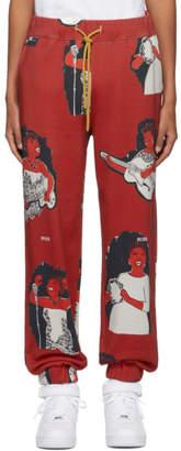 Pyer Moss Red AOP Jogger Lounge Pants