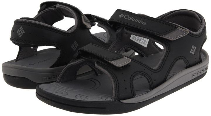 Columbia Kids - Techsun (Toddler/Little Kid/Big Kid) (Black/Smoked Pearl) - Footwear