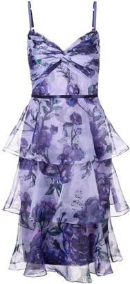 Marchesa tiered floral dress
