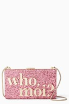 Kate Spade Who Moi? Glitter Clutch - None