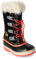 Sorel Kids Girls) Black Joan of Arctic Faux Fur Cuff Boots