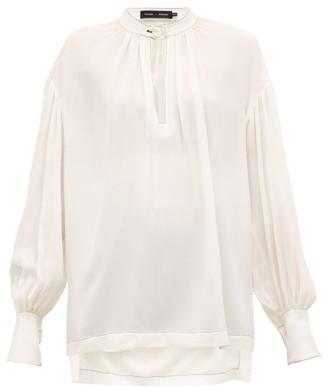 Proenza Schouler Buttoned-keyhole Silk-georgette Blouse - Ivory