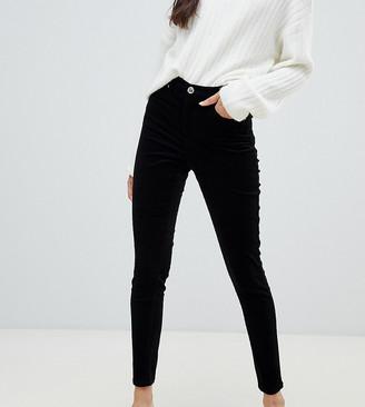 Miss Selfridge skinny cord pants in black