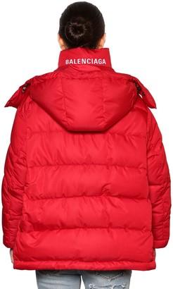 Balenciaga Back Logo Nylon Puffer