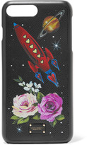 Dolce & Gabbana Printed Textured-leather Iphone 7 Plus Case - Black