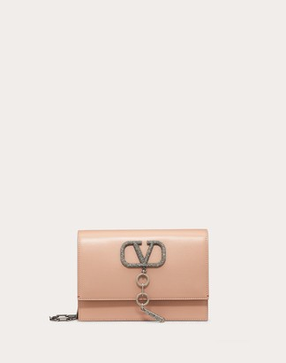 Valentino Small Vcase Smooth Calfskin Bag Women Rose Cannelle 100% Pelle Di Vitello - Bos Taurus OneSize
