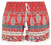 Band of Gypsies Pom pom trim shorts