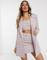 Asos Design DESIGN boucle suit blazer