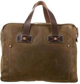 Billy Reid Nubuck Messenger Bag