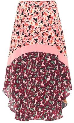 Stella McCartney Printed silk midi skirt