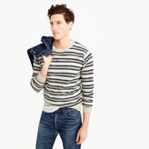 J.Crew Rugged cotton crewneck sweater in multistripe