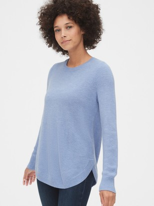 Gap True Soft Textured Crewneck Tunic Sweater