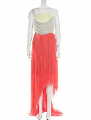 DELPOZO Silk Midi Length Dress w/ Tags Red