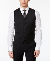 Ben Sherman Men's Slim-Fit Black Solid Suit Vest