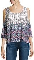Arizona Cold Shoulder Peasant Top- Juniors