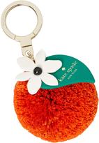 Kate Spade Women's Orange Raffia Keychain