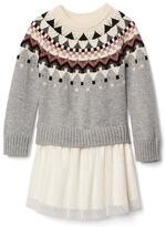 Gap Fair isle double-layer dress