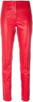 Loewe slim-fit trousers - women - Cotton/Lamb Skin/Spandex/Elastane - 38