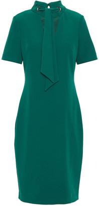 Badgley Mischka Tie-neck Crepe Dress