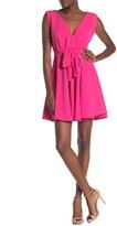 Velvet Torch V-Neck Sleeveless Fit & Flare Skater Dress