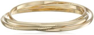 "GUESS Basic"" Gold 3 Piece Interlocking Bangle Bracelet"