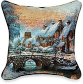 Thomas Laboratories Kinkade Cobblestone Christmas Pillow
