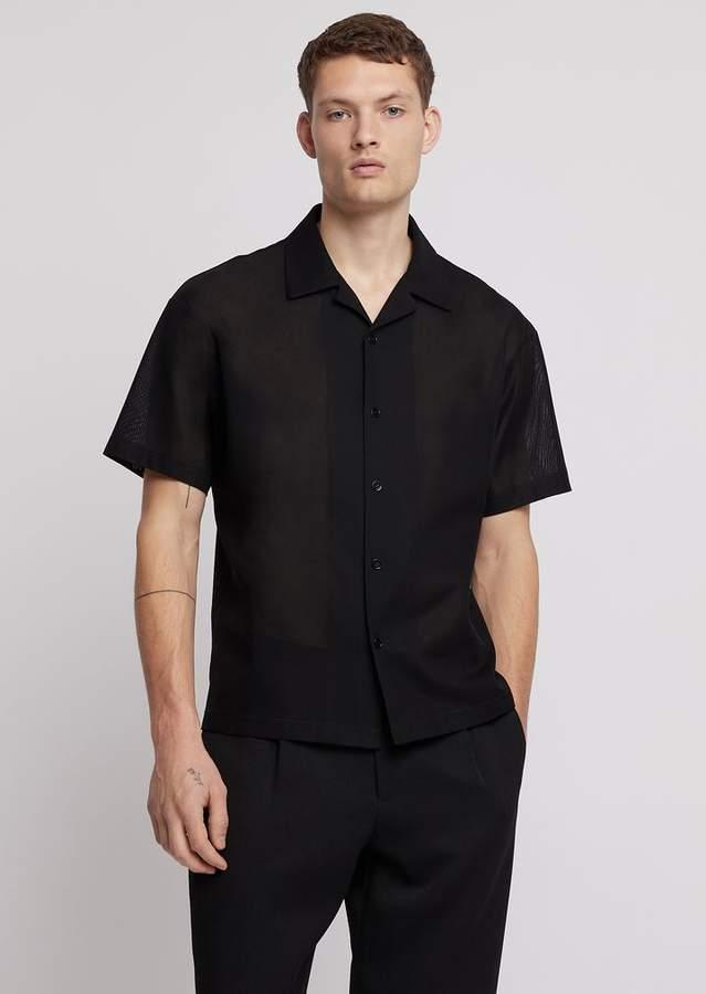 85f418370e Short-Sleeved Shirt In Cotton Gauze