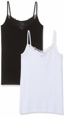 Only Women's Onlkira Lace Singlet 2 Pack Noos Vest