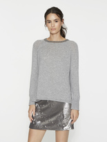 Halston Metallic Detail Cashmere Blend Sweater