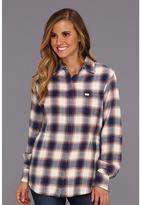 Obey Deja Vu Flannel Shirt Jacket (Navy) - Apparel