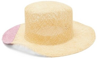 Reinhard Plank Hats - Nueu Bi-colour Straw Hat - Pink Multi