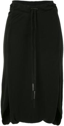 Boris Bidjan Saberi Cotton Drop-Crotch Drawstring Shorts
