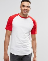 Jack and Jones T-Shirt with Contrast Raglan Sleeves