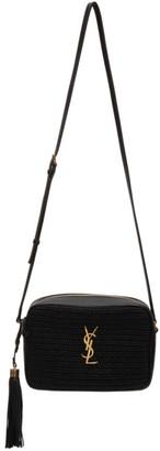 Saint Laurent Black Raffia Lou Camera Bag