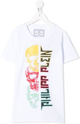 Philipp Plein triple skull T-shirt