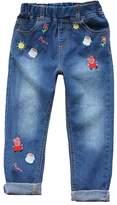 LEMONBABY Little Girl's Peppa Pig Elastic Jeans