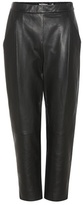 Vince Cropped Leather Trousers