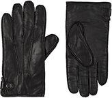 Barneys New York Men's Cashmere-Lined Leather Gloves-BROWN, BLACK